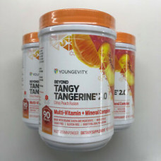 Youngevity Dr Wallach Beyond Tangy Tangerine BTT 2.0 3 Pack Canisters