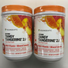 Youngevity Dr. Wallach Beyond Tangy Tangerine BTT 2.0 2 Pack Canisters